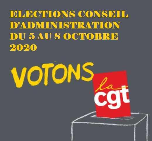 ELECTIONS AU CONSEIL D'ADMINISTRATION du 5 au 8 octobre 2020