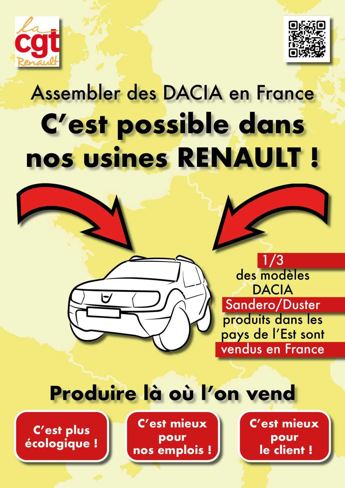Signez la pétition pour la localisation de véhicules DACIA en France !