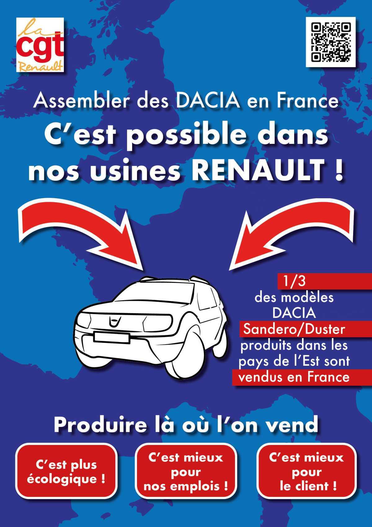 Pour la localisation en France d'une part des véhicules DACIA vendus sur le territoire