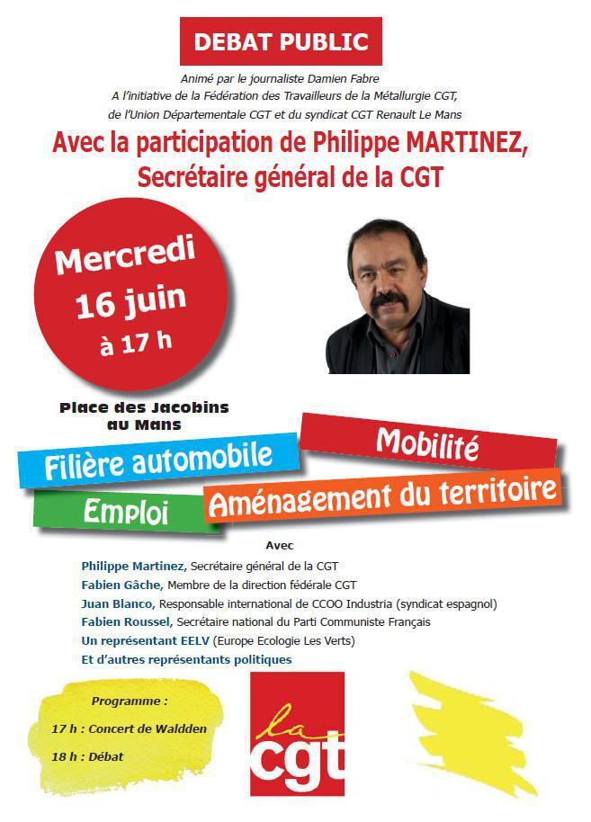 Débat public au Mans le 16 juin 2021