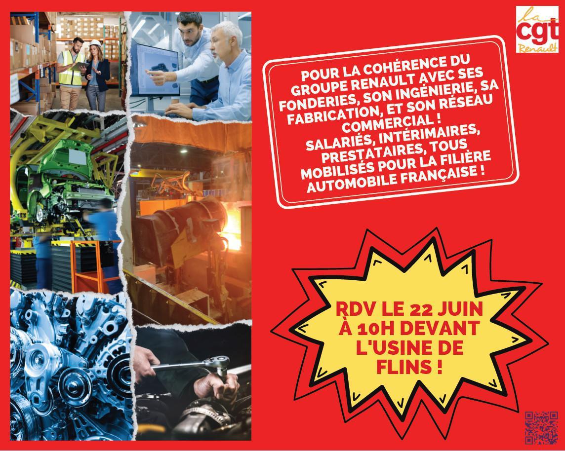 Cléon : contre les suppressions d'emplois dans l'automobile, mobilisation générale le 22 juin.