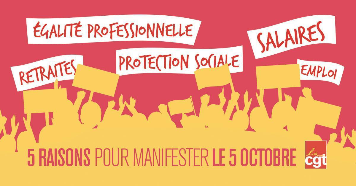 LE 5 OCTOBRE: 5 RAISONS D'AGIR!