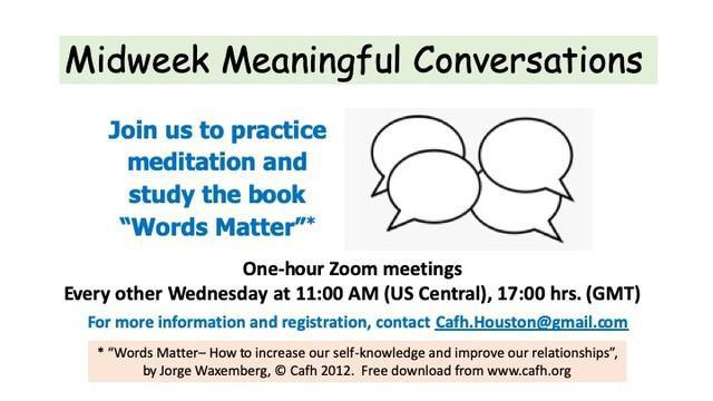 Midweek Meaningful Conversations | Cafh USA, Houston