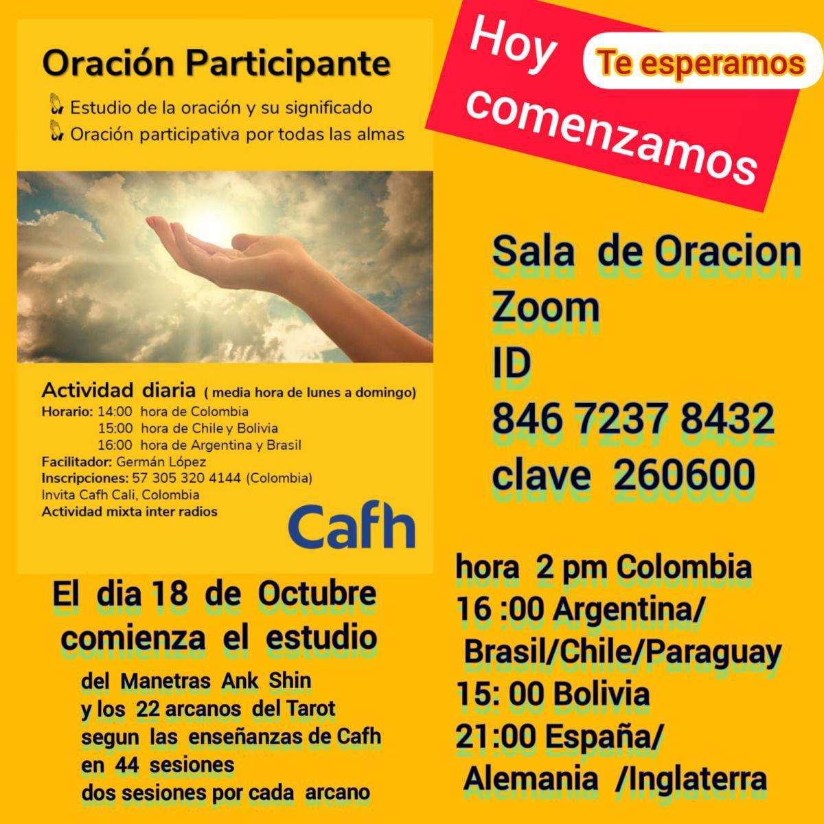 Oración Participante | Cafh Argentina y Brasil
