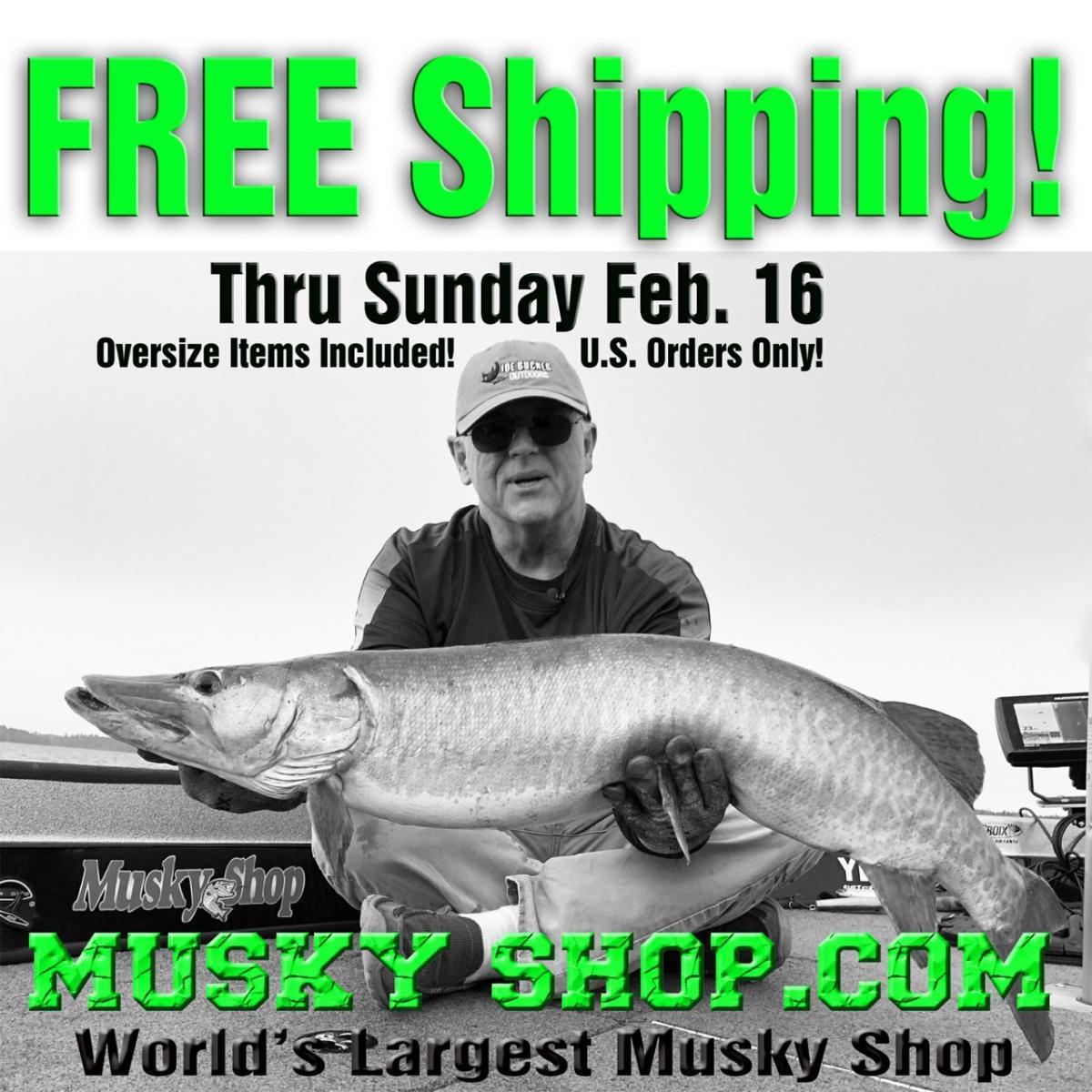 Milwaukee Musky Show & Free Shipping @ Musky Shop