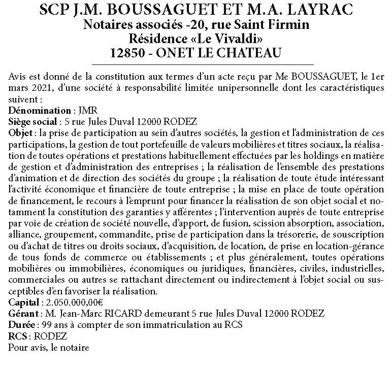 Societe JMB-SL