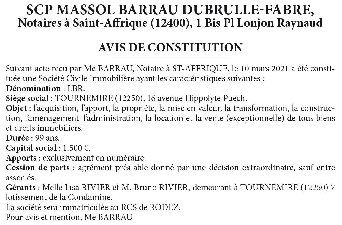 BARRAu - LBR - Acte 100763102