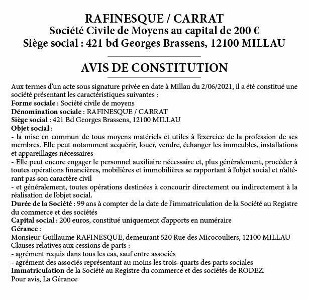 Constitution CARRAT