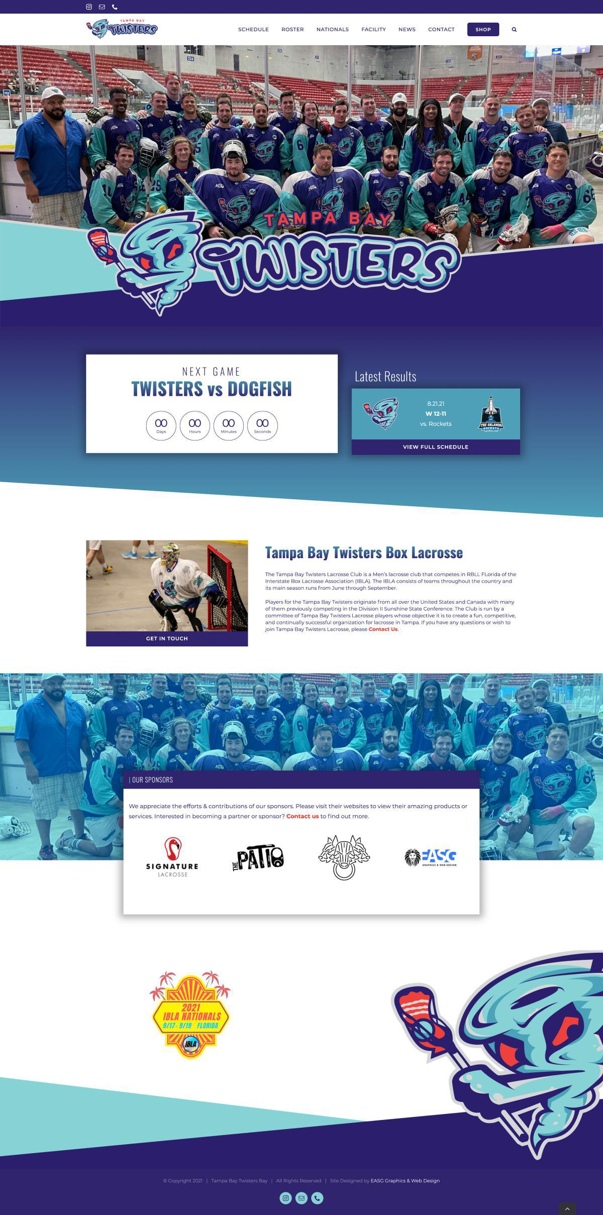 TAMPA BAY TWISTERS BOX LACROSSE