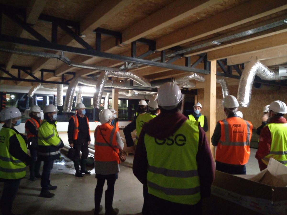 Actu du CPE: Visite de chantier GSE à Pessac
