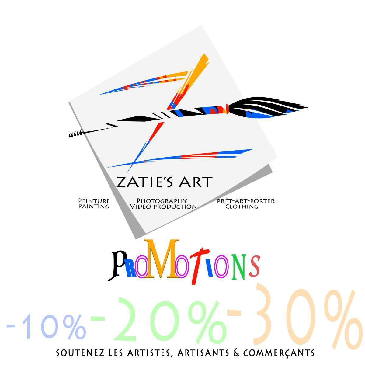 Promotions chez Zatie's Art
