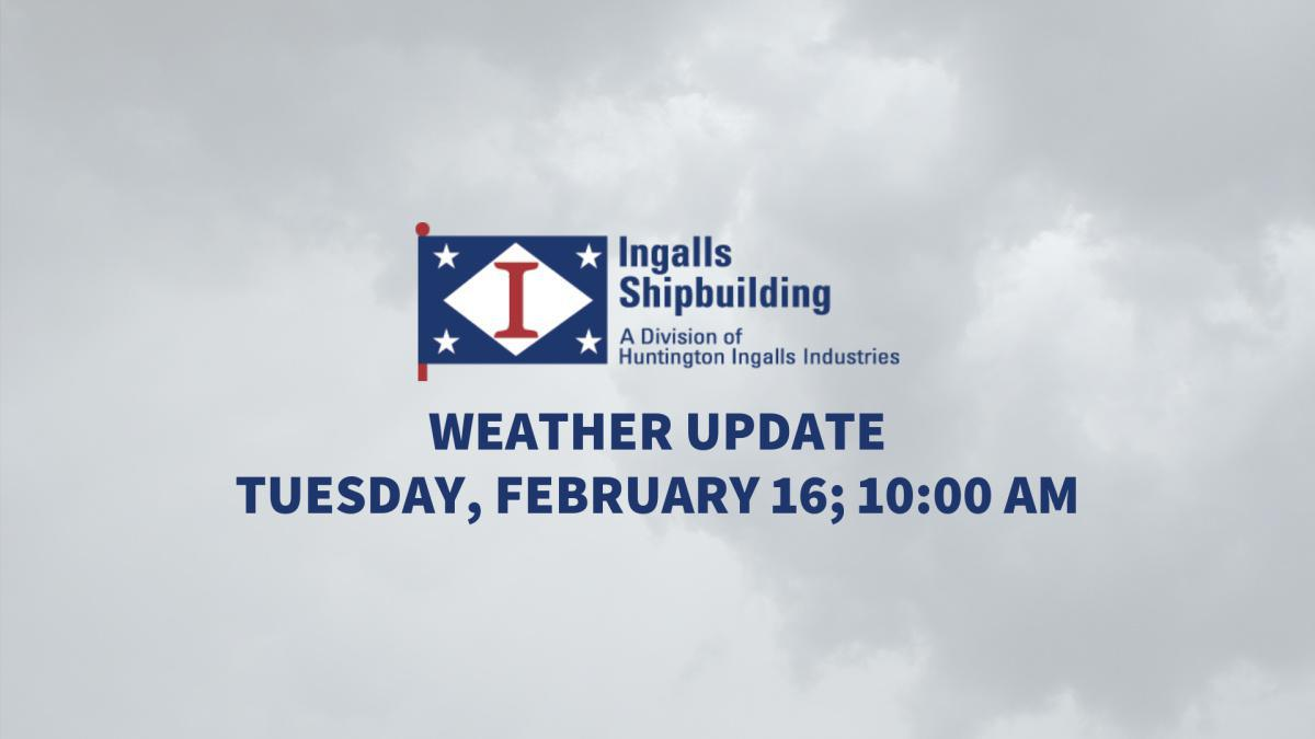 Weather Update: Tuesday, February 16