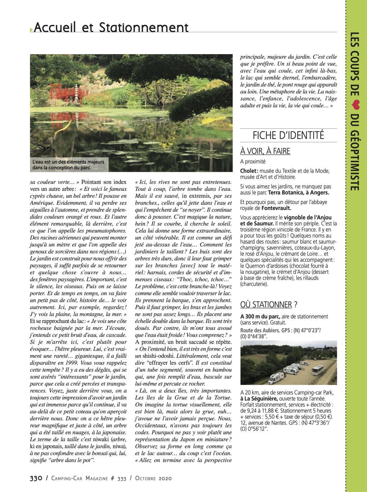 Le Parc Oriental de Maulévrier - CCM 333
