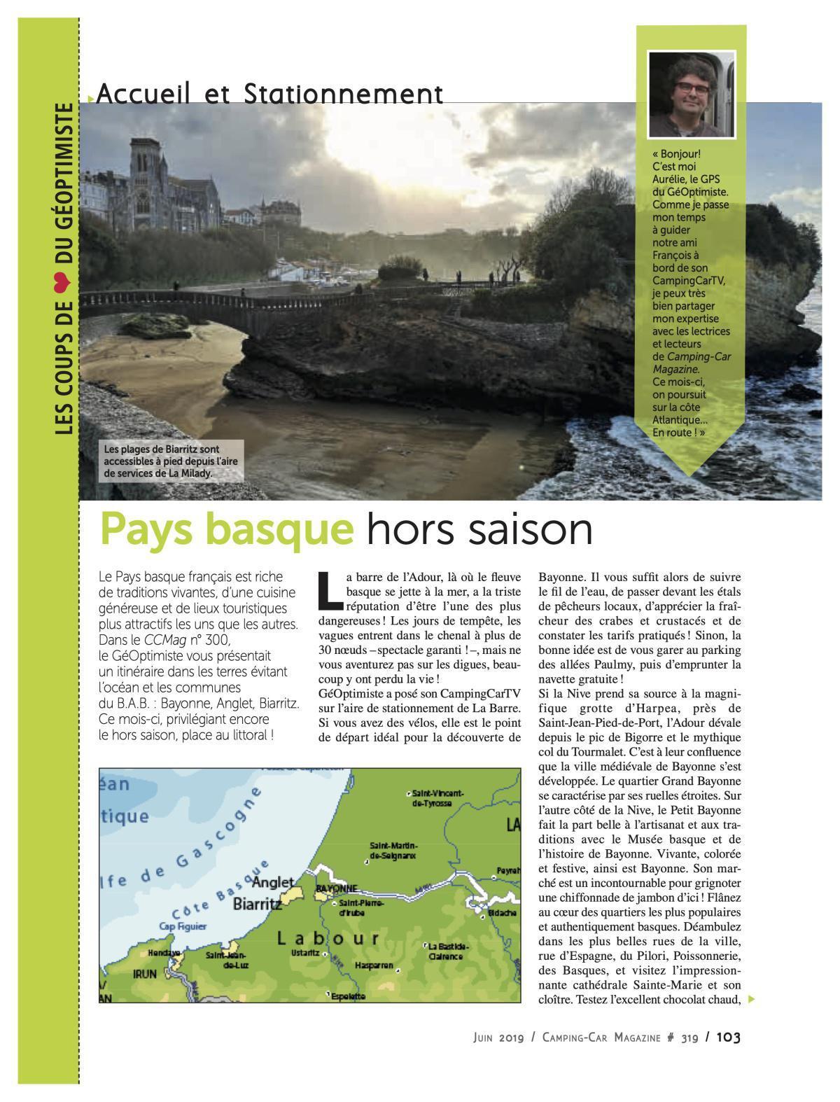 Pays Basque hors saison - CCM 319