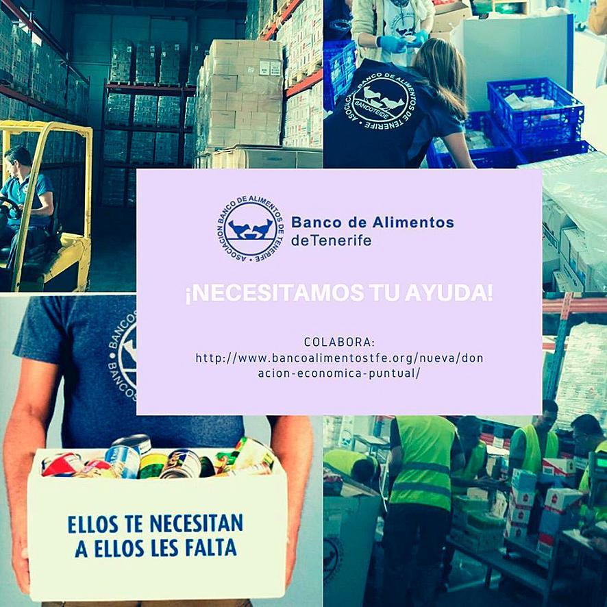De voedselbank van Tenerife blijft werken en vraagt om financiële steun