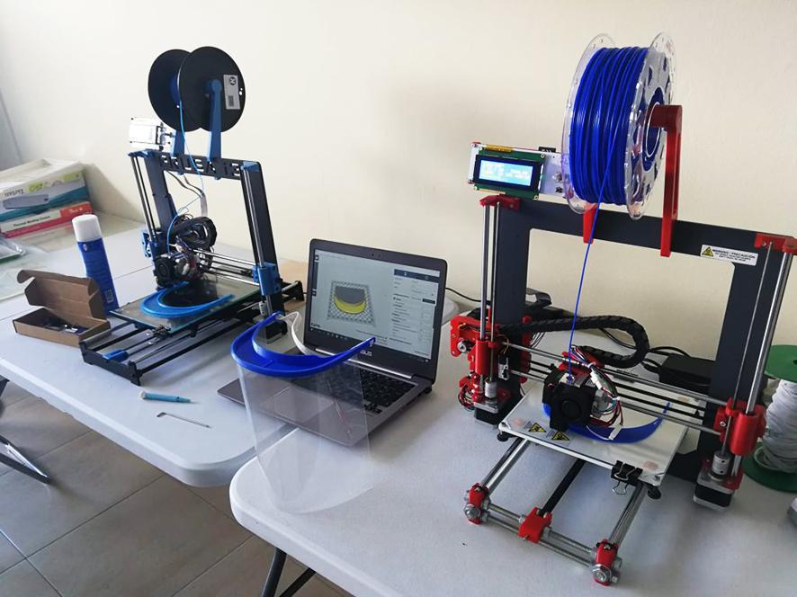 Echeyde College op Tenerife ontwikkelt maskers met 3D-printtechnologie