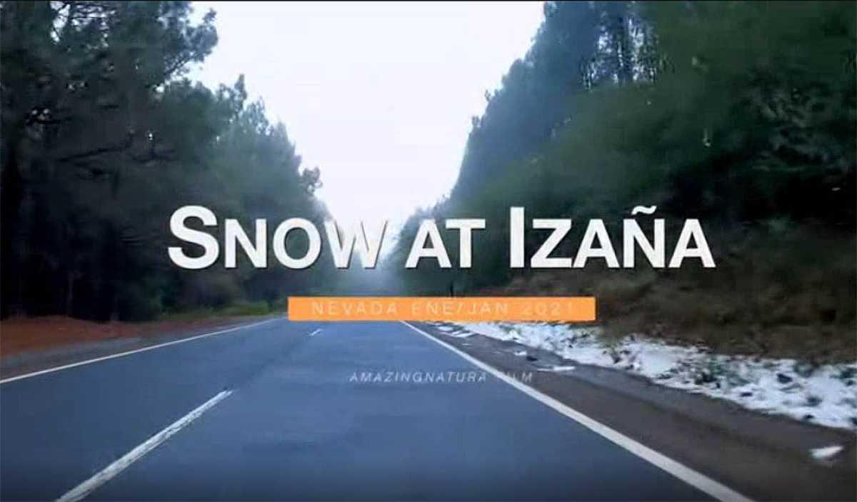 Sneeuw in Izaña - januari 2021