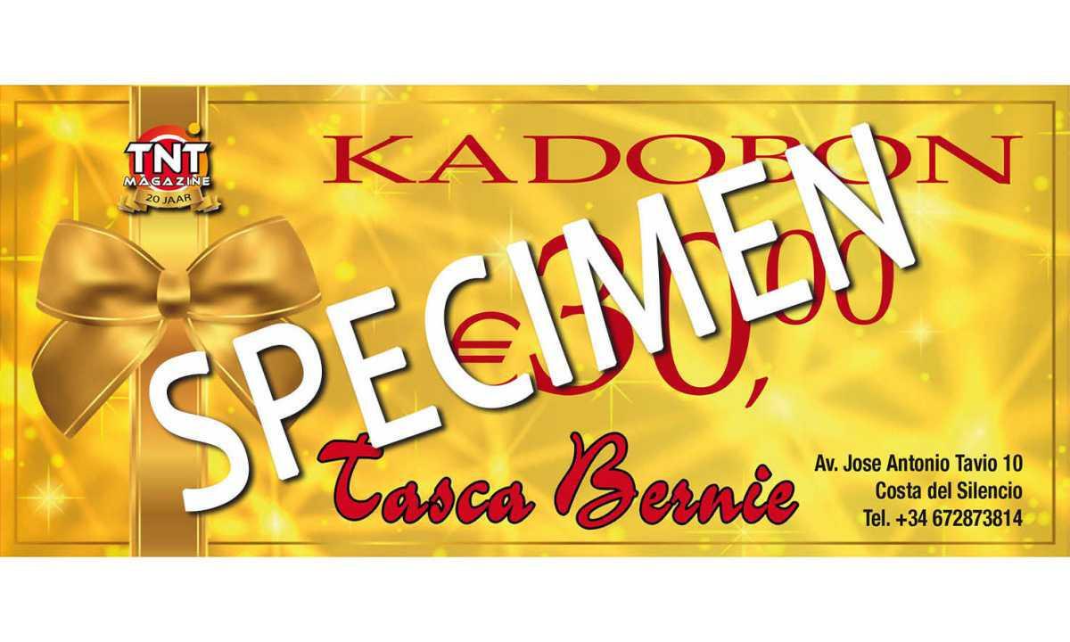 Tasca Bernie - Kadobon 30 euro