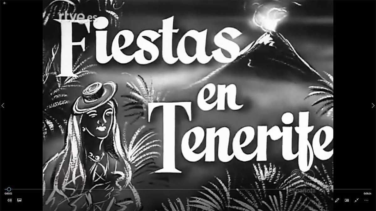 Fiestas en Santa Cruz de Tenerife (1956 - video)