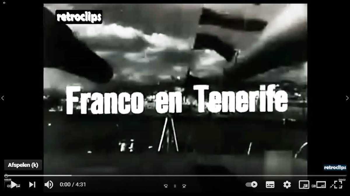 Franco bezoekt Tenerife in 1950 (video)