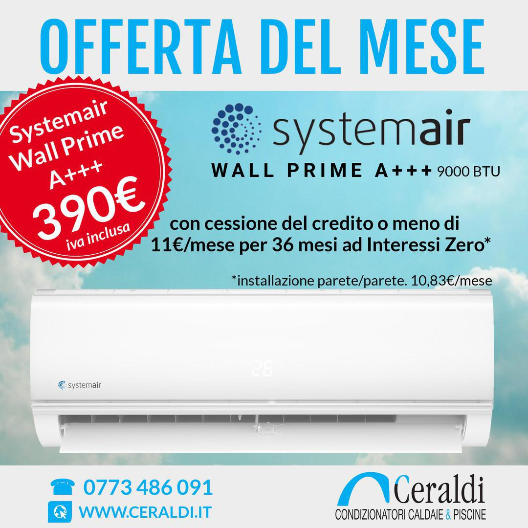 Offerta Giugno. SystemAir Wall Prime A++