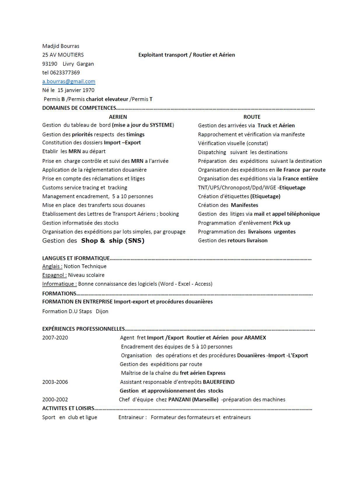 Recherche emploi - AGENT EN LOGISTIQUE - fret Import /Export Routier et Aérien