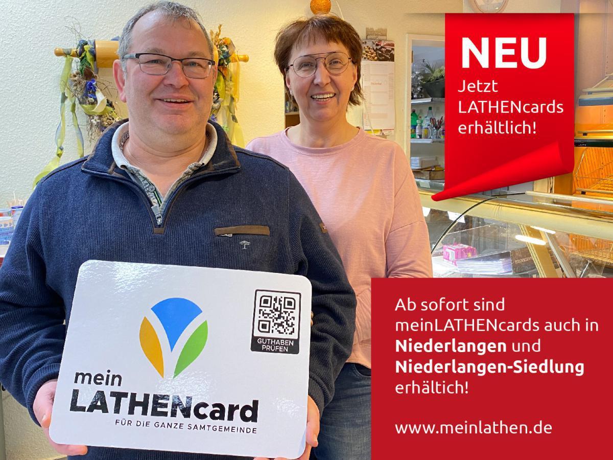 meinLATHENcards nun auch in Niederlangen und -Siedlung!