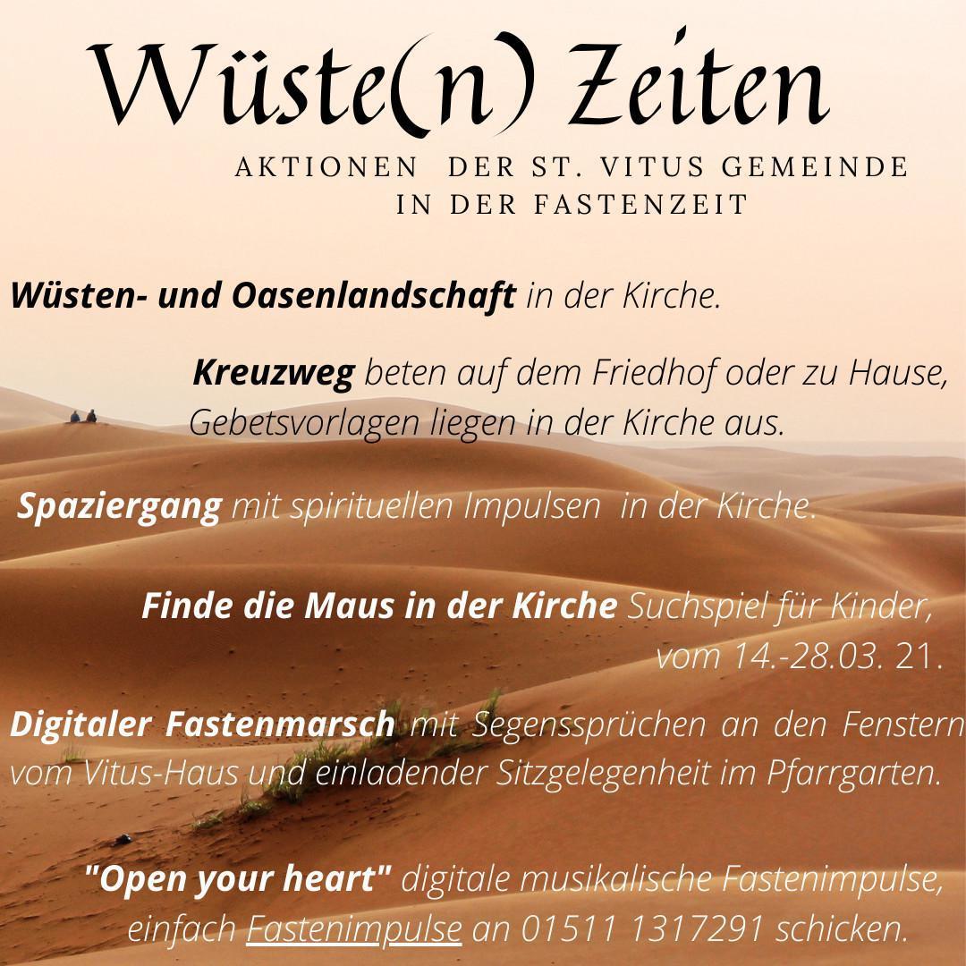 Aktionen der St. Vitus Gemeinde Lathen in der Fastenzeit
