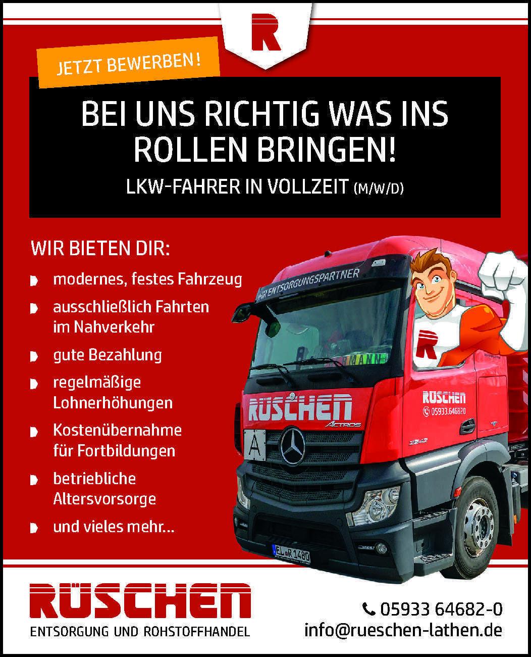 LKW-Fahrer in Vollzeit (m/w/d)