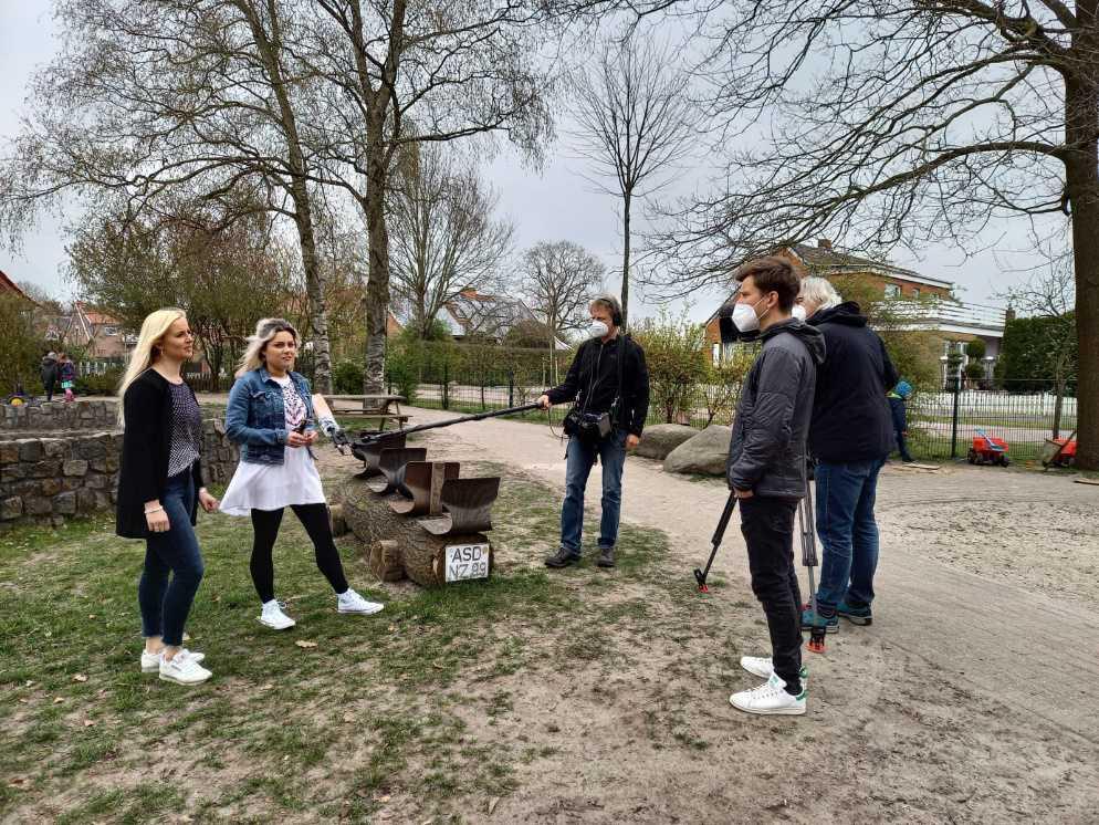 Das ZDF-Fernsehen dreht im Kindergarten Purzelbaum
