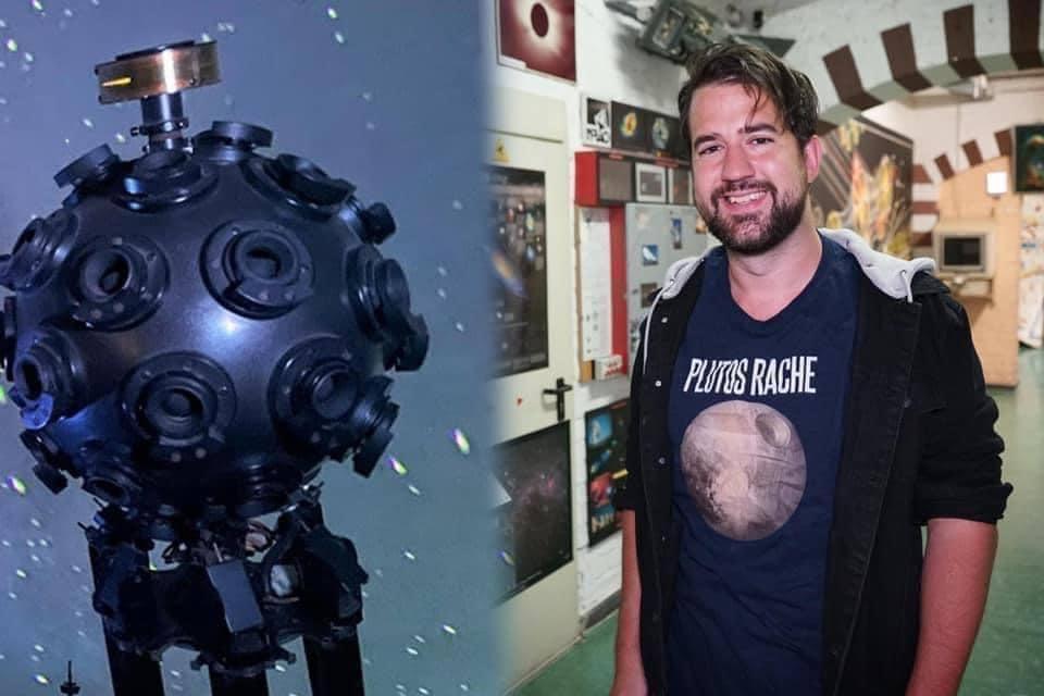 Tim Julian Ruster bietet Live-Online-Führung aus dem Planetarium
