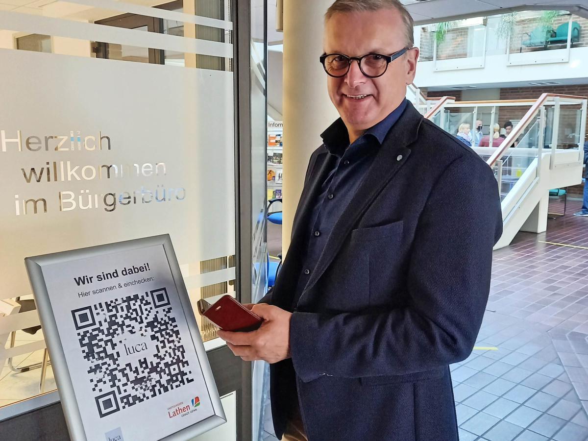 Luca-App – auch das Lathener Rathaus macht mit