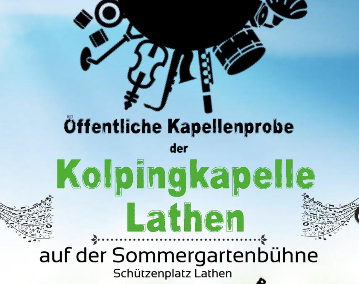 Öffentliche Probe der Kolpingkapelle Lathen auf dem Lathener Sommergarten