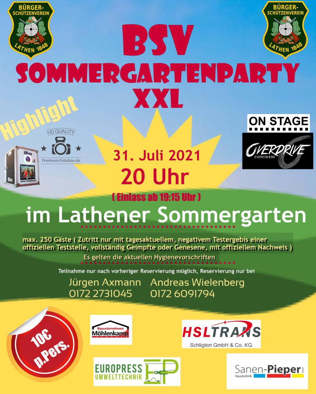 BSV Sommergartenparty XXL