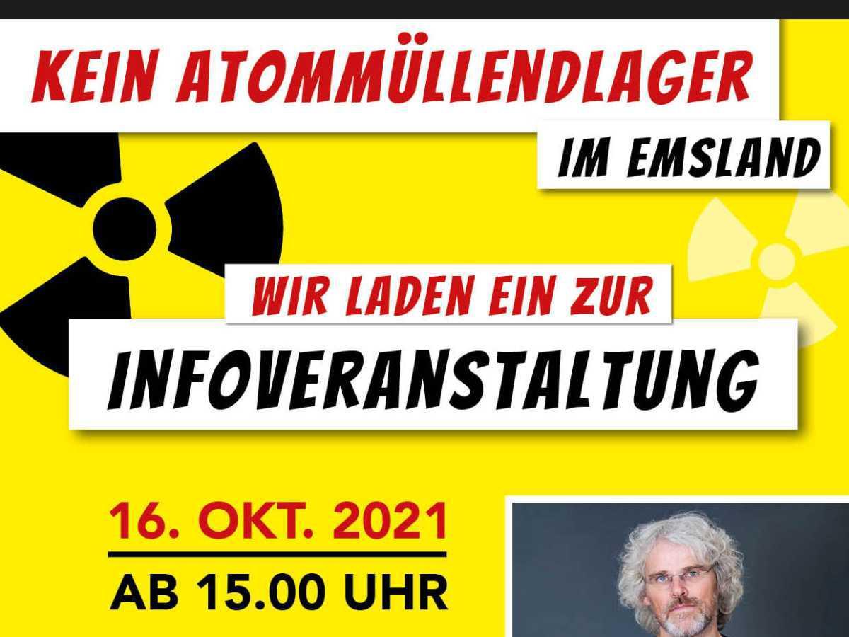 """Infoveranstaltung """"Kein Atommüllendlager im Emsland"""""""