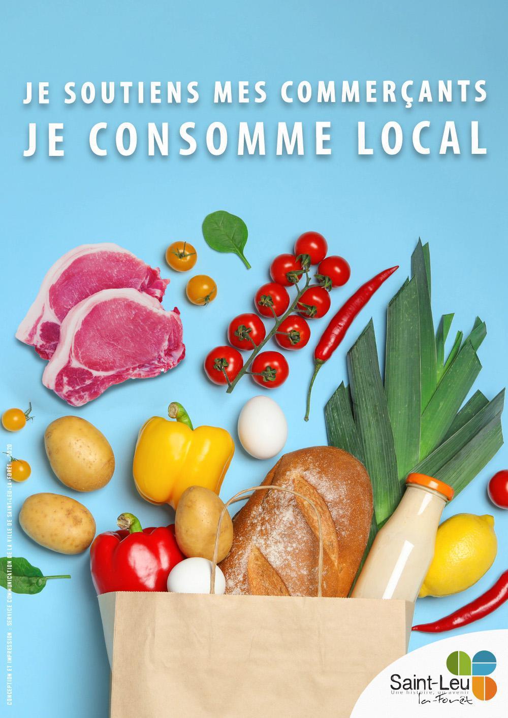Je soutiens mes commerçants, je consomme local !