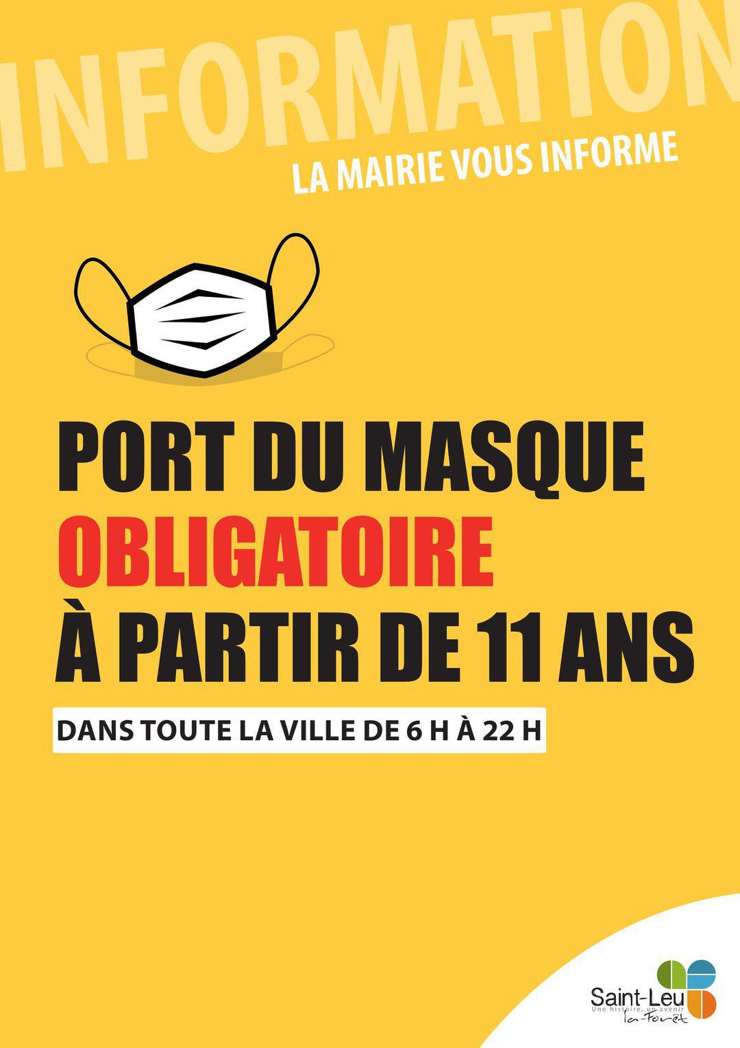 Port du masque - info Mairie