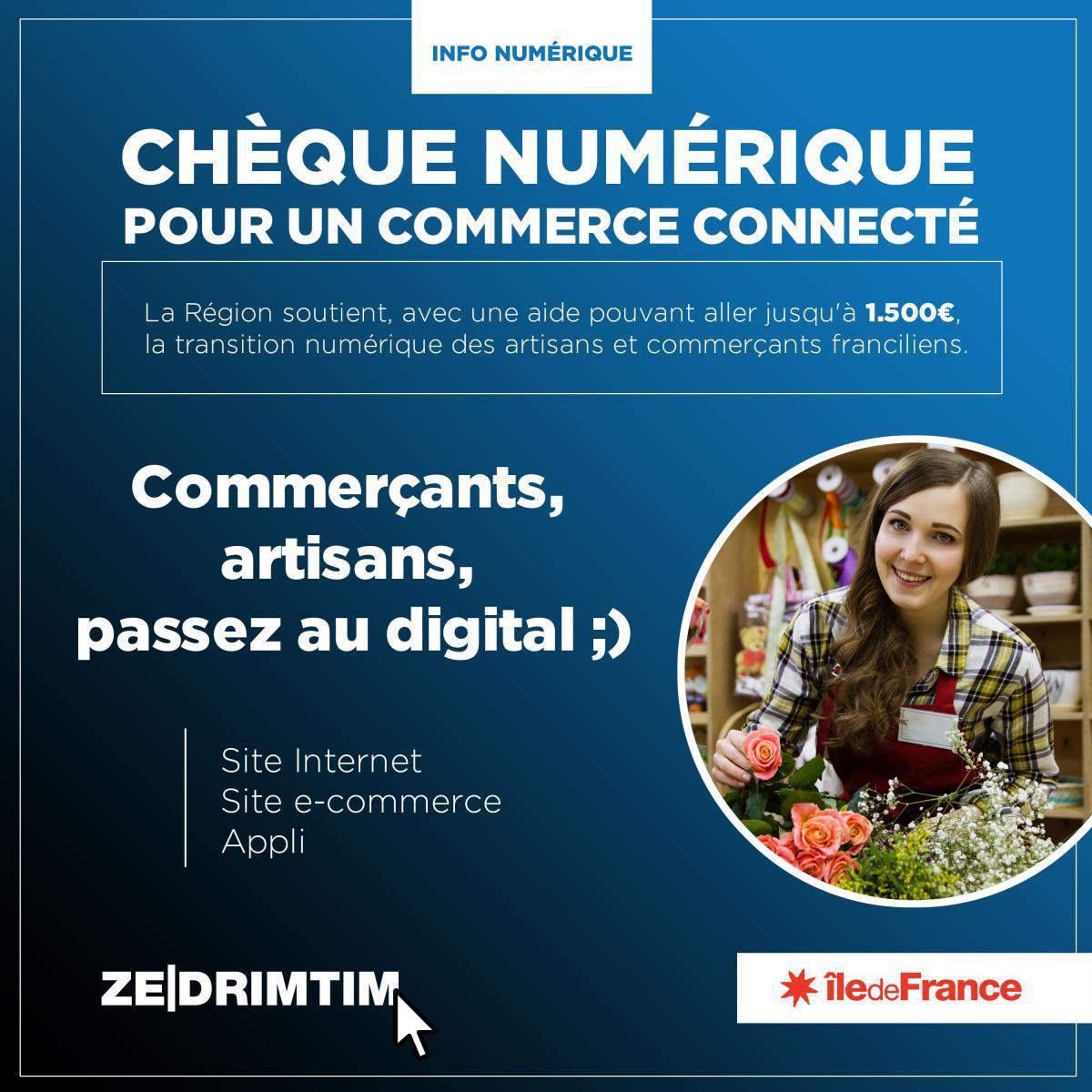 Info chèque numérique pour les commerçants et artisans