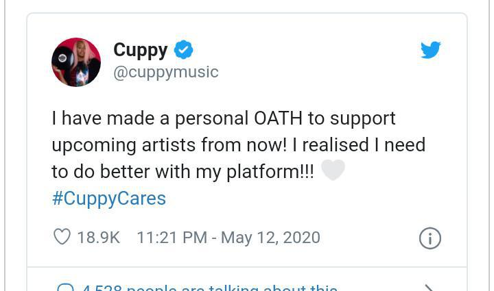 DJ Cuppy Vows To Support Upcoming Artistes