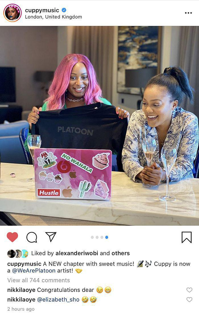 Nigerian Female DJ, DJ Cuppy Signed A New Deal With A London Based Record Label
