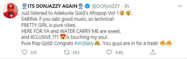 You Guys Are In For A Treat – Don Jazzy Hypes Adekunle Gold's Afro Pop Vol. 1 Album