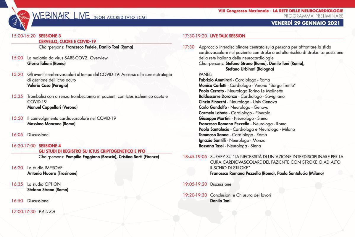 Congresso Nazionale | Sessione Live del 29 Gennaio 2021