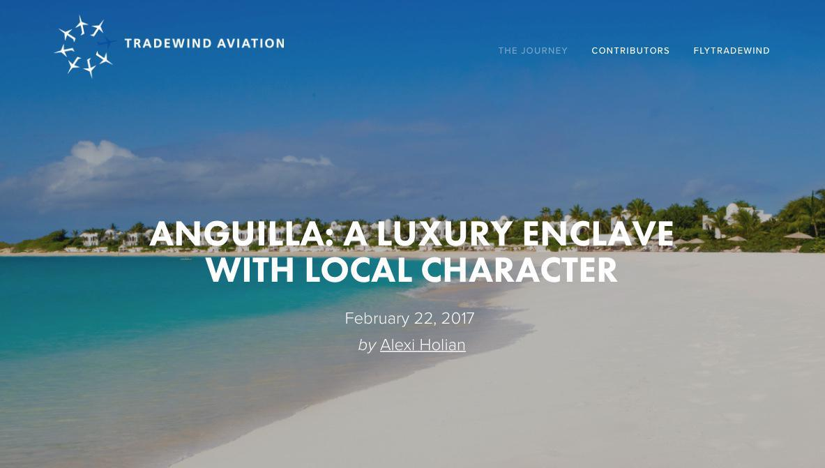 Anguilla: A Luxury Enclave With Local Character