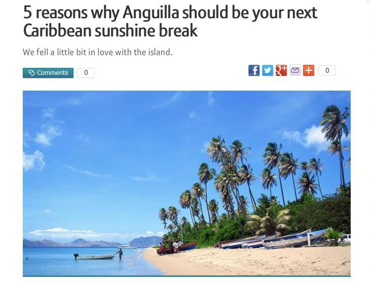 5 reasons why Anguilla should be your next Caribbean sunshine break