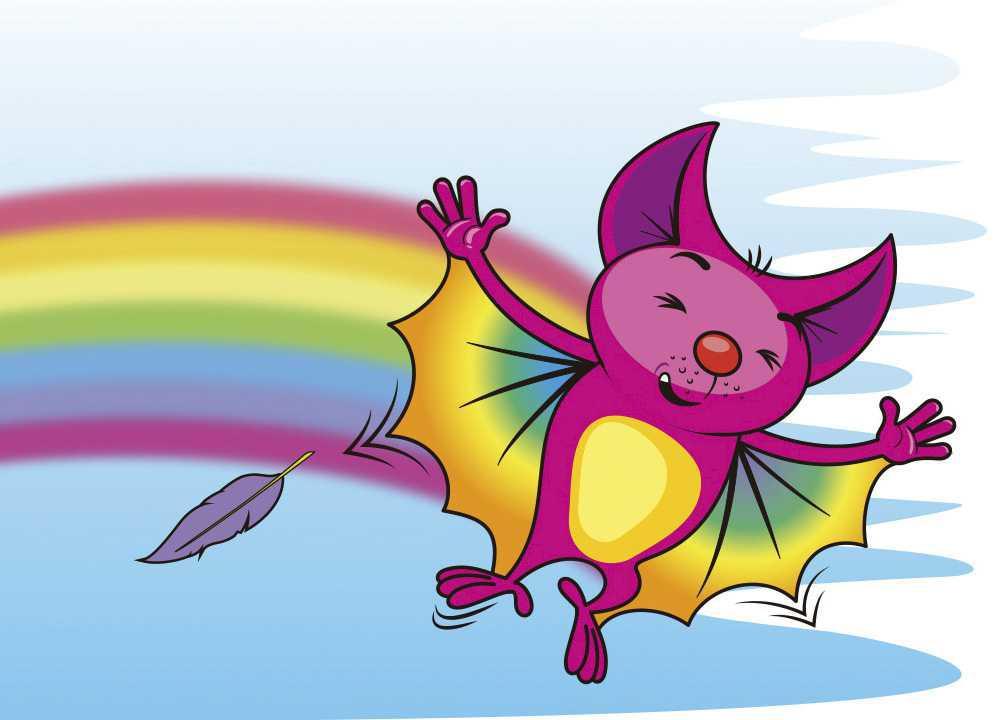 O morcego colorido