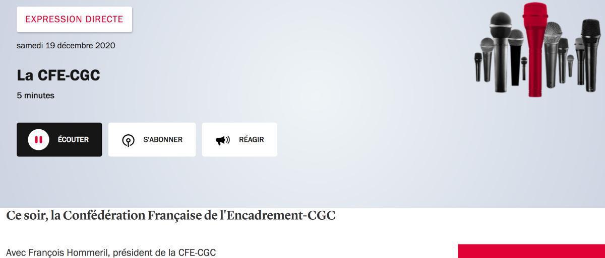 Assurance chômage, plans sociaux, télétravail : en cette fin d'année, François Hommeril revient sur le travail de terrain de la CFE-CGC dans les sections syndicales