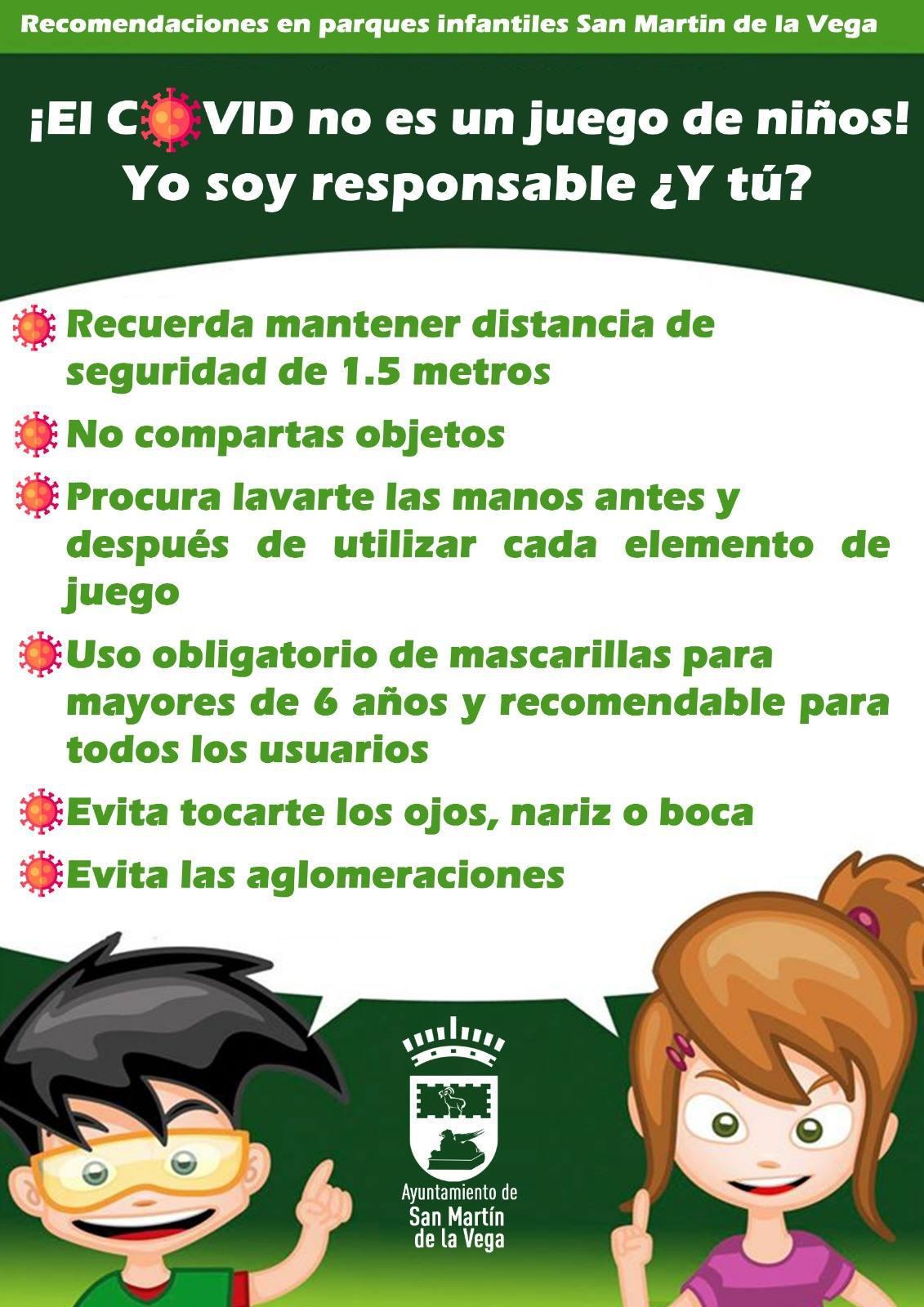 Recomendaciones para los parques infantiles de San Martín de la Vega