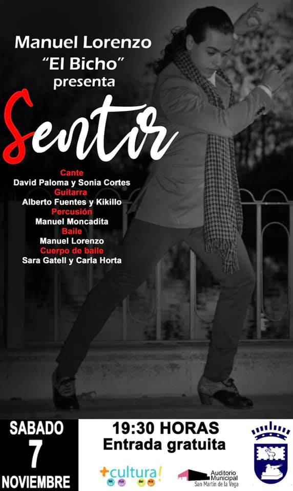 """Espectáculo de flamenco """"SENTIR"""" en el Auditorio Julián Antonio Sánchez"""