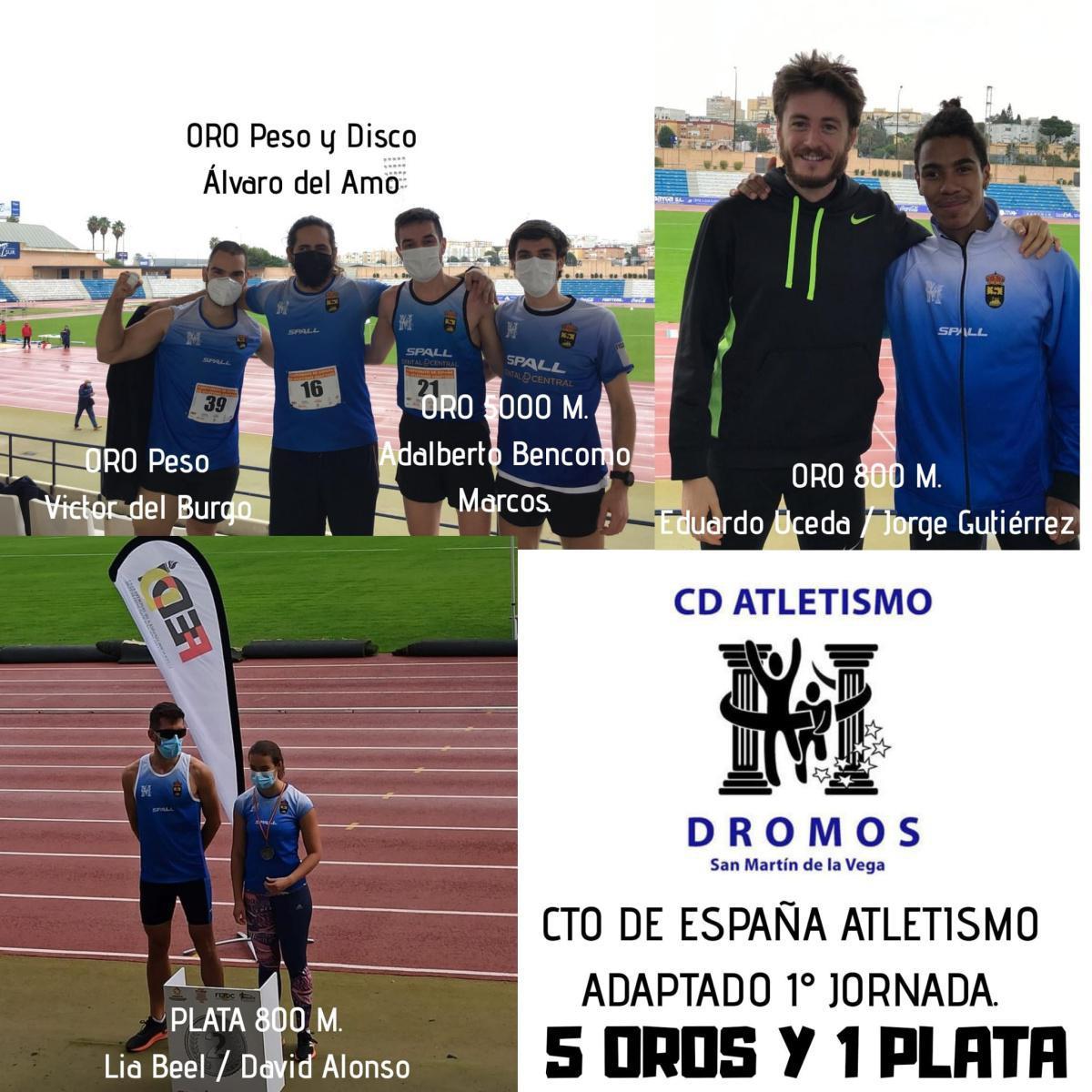 Espectacular actuación de los atletas del CD Dromos en San Fernando, Cadiz