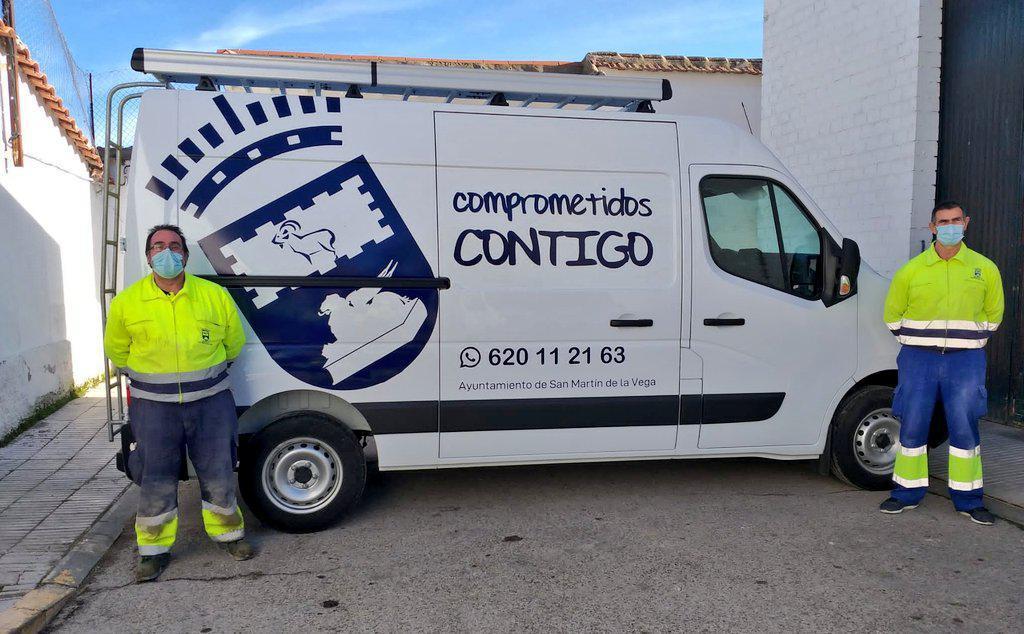 San Martín de la Vega estrena nuevo vehículo para el mantenimiento urbano